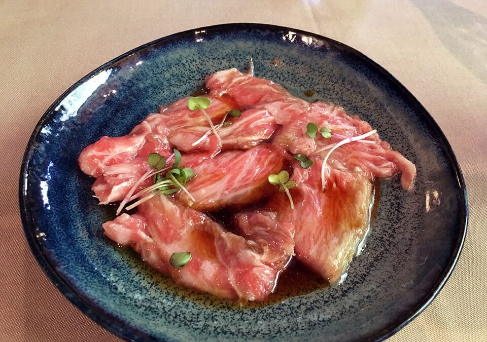 Carpaccio de aleta de atún (Menú del atún)